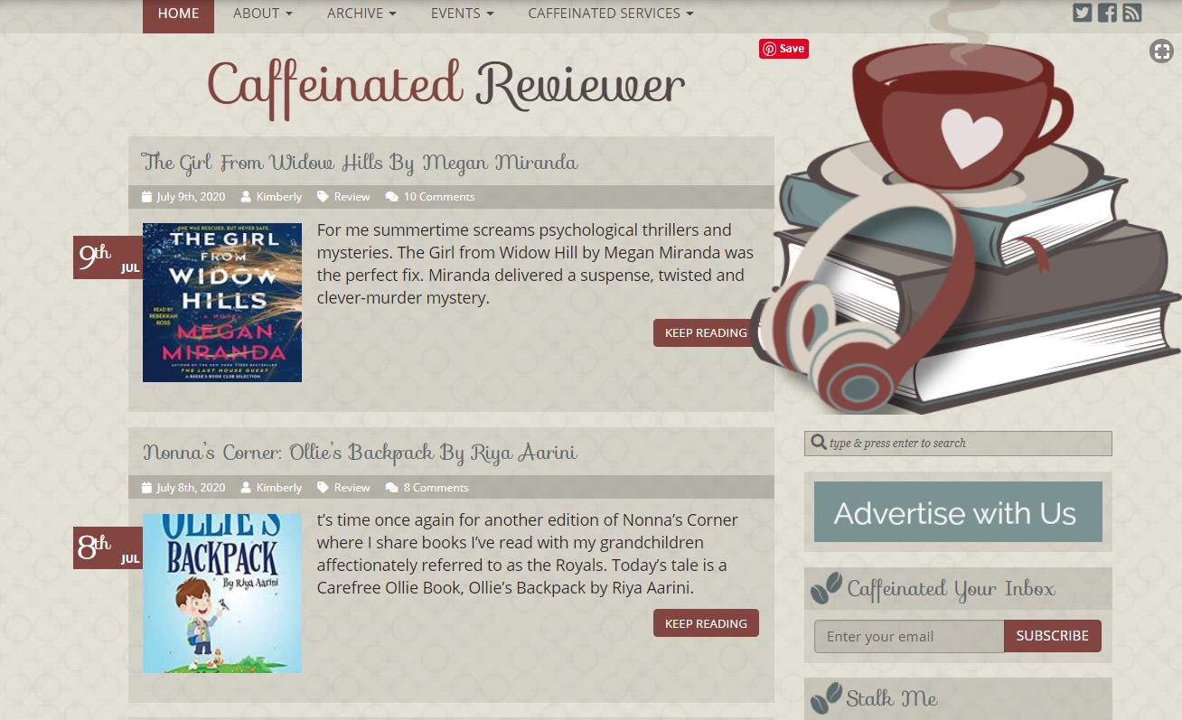Caffeinated Reviewer blog