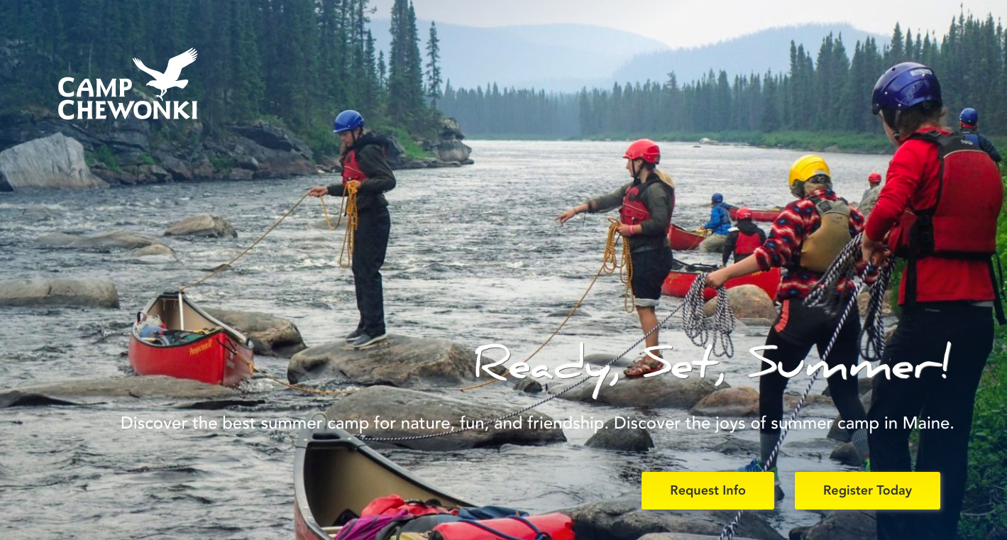Camp Chewonki Web Design Example