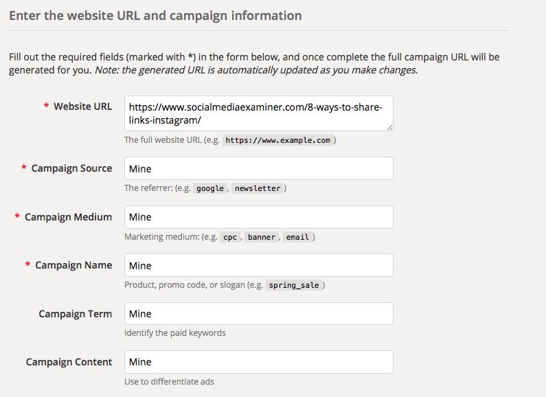 Campaign URL Builder Form