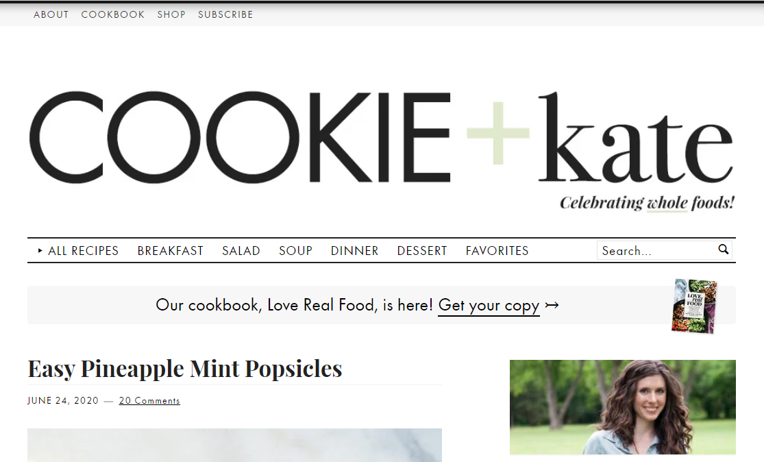 Cookie + Kate food blog