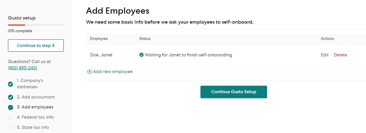 Adding Employee