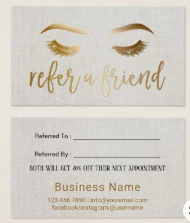 Example Salon Referral Card