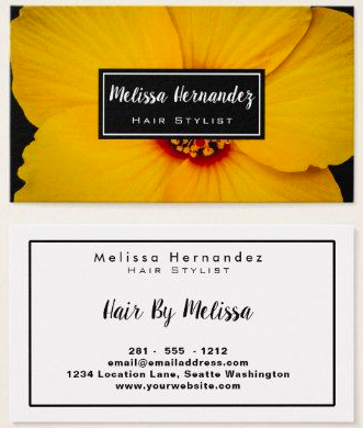 Example Stylist Business Card