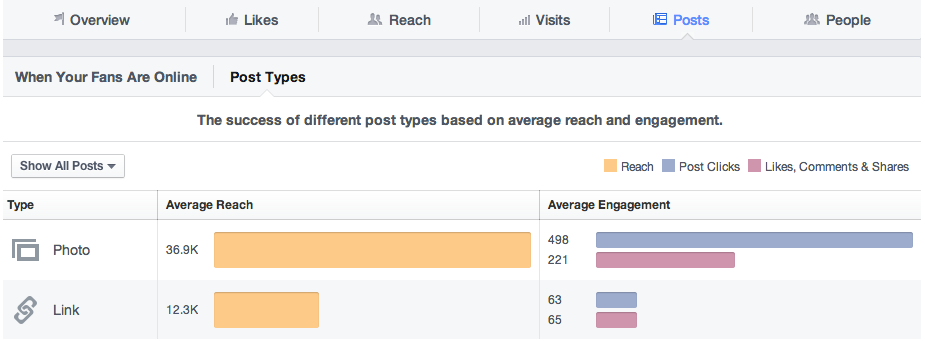 Facebook Insights by Post Type