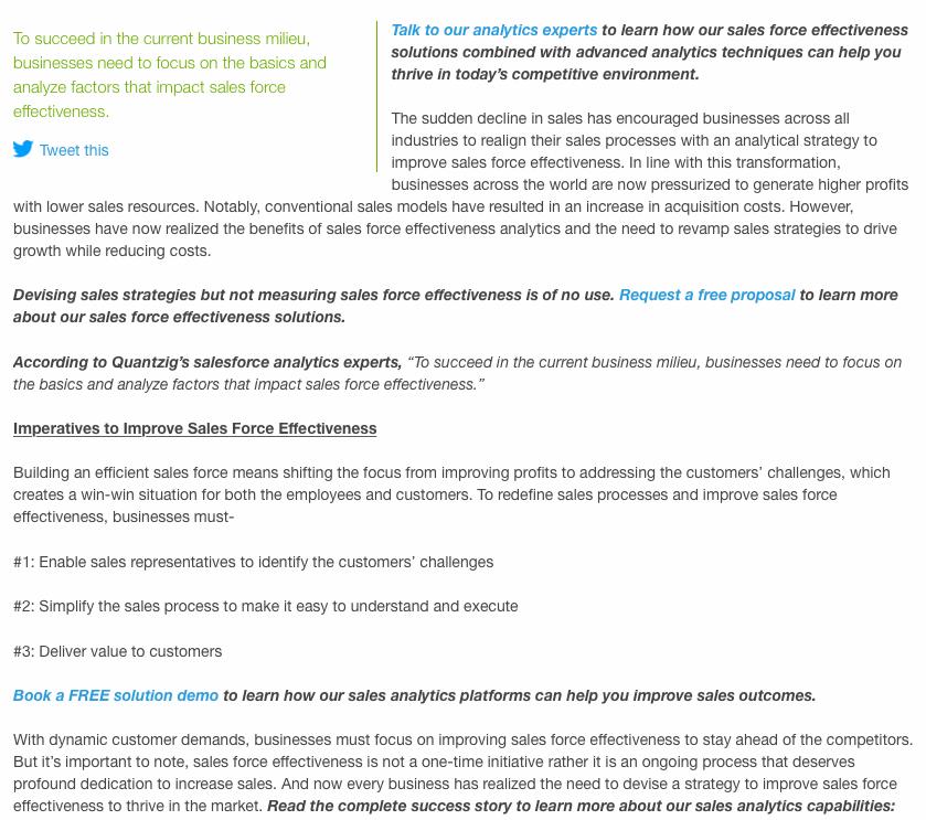 Quantzig Press Release Example
