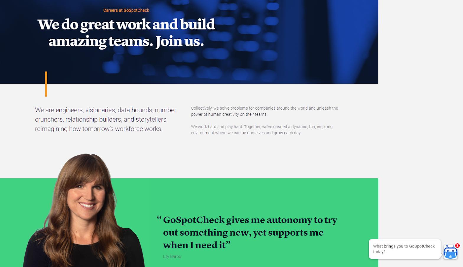 GoSpotCheck Homepage