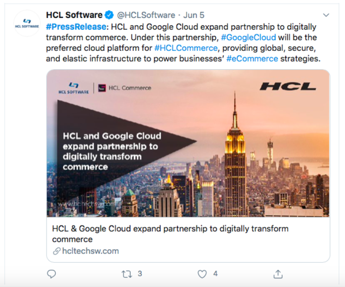 HCL Software press release