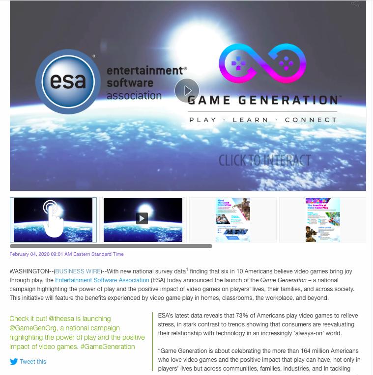 ESA Press Release Example