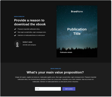 Instapage offers easy-to-use landing page templates that help you build attractive landing pages