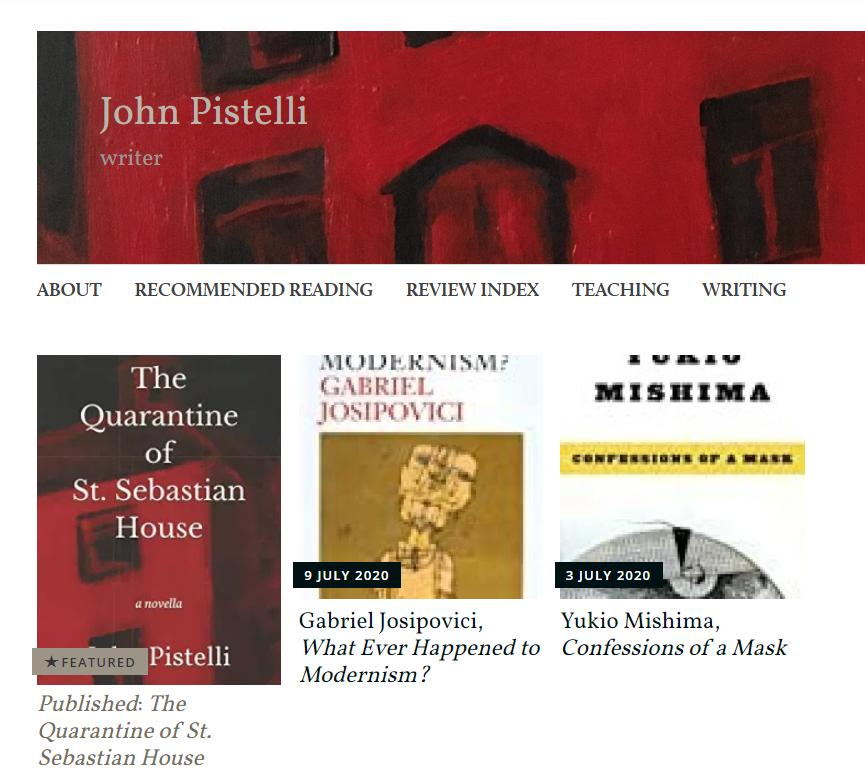 John Pistelli's book blog
