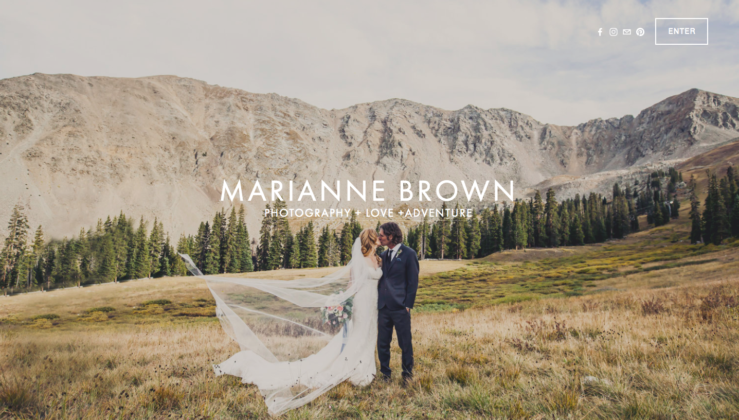 Marianne Brown Photography Website Example