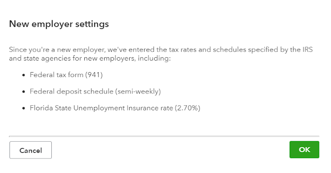 New Employer Settings