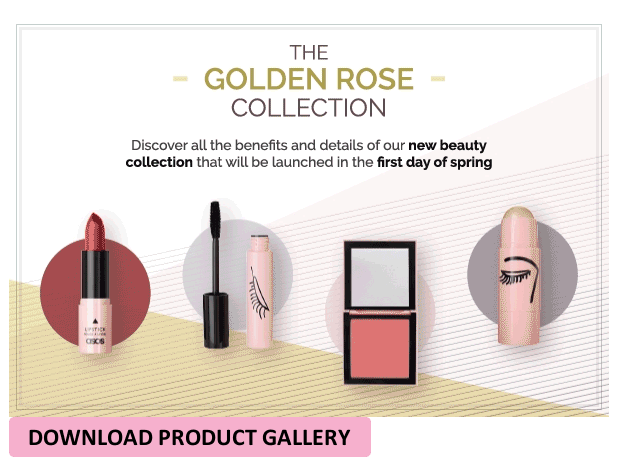 The Golden Rose Collection of cosmetics