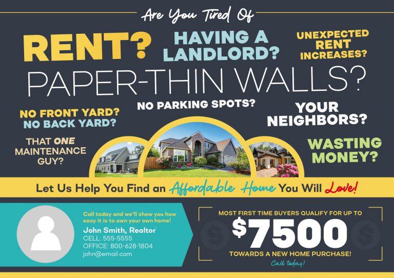 Postcardmania - Rent vs Buy Example