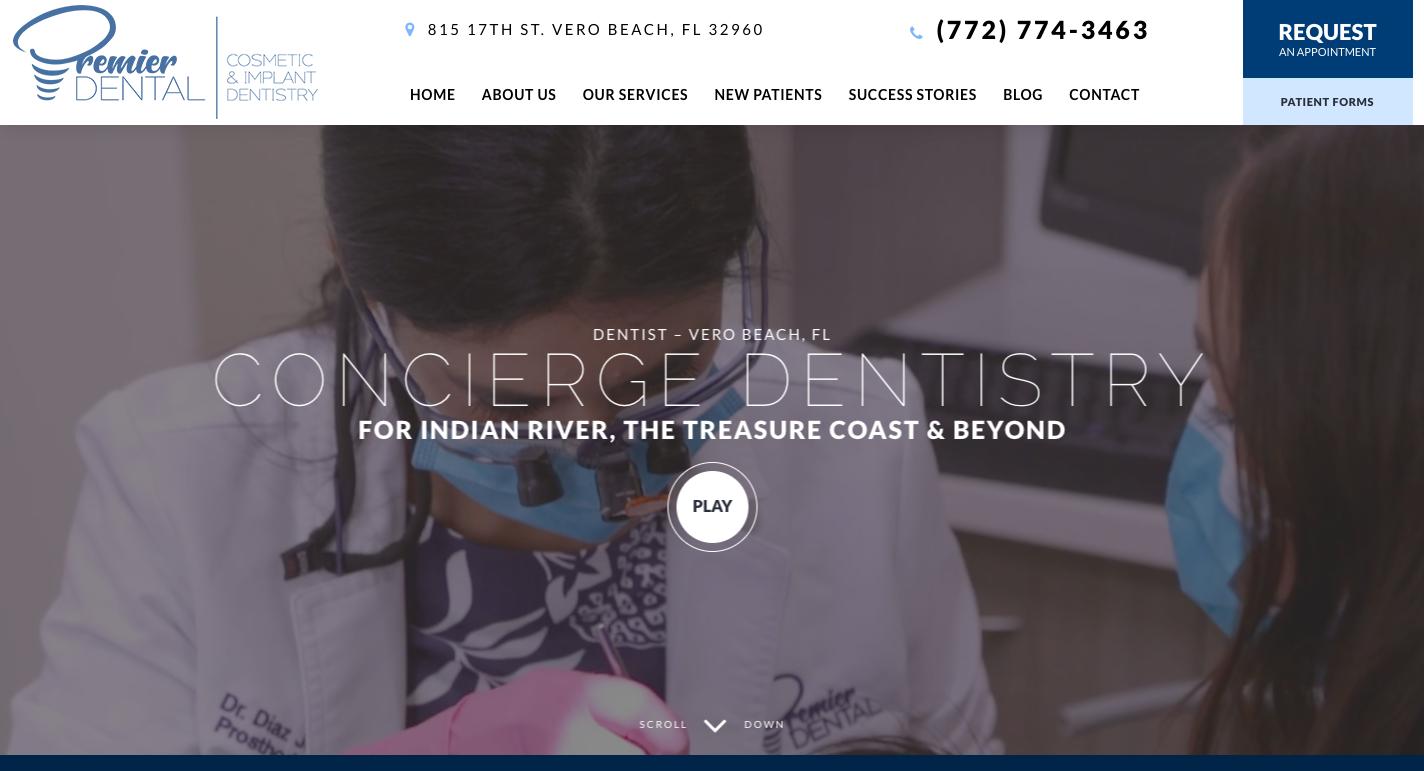 Vero Beach, FL - Premier Dental Website Design