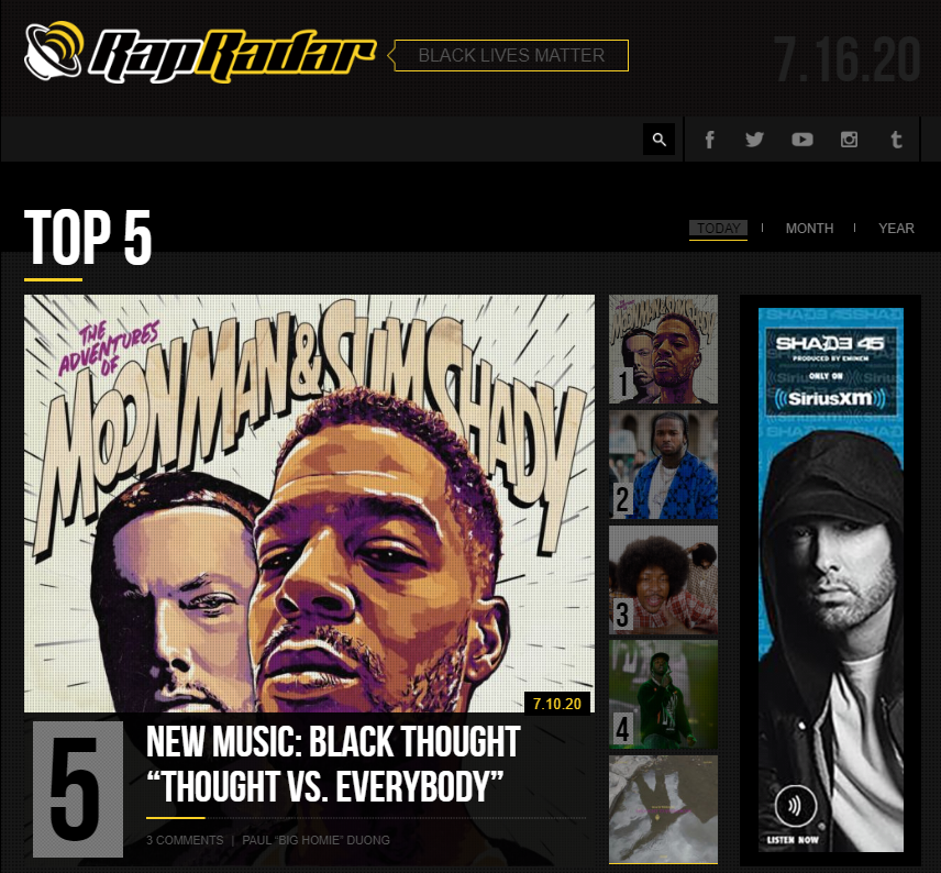 Rap Radar music blog