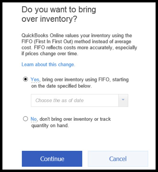 Inventory Setup for Conversion from QuickBooks Desktop to Online