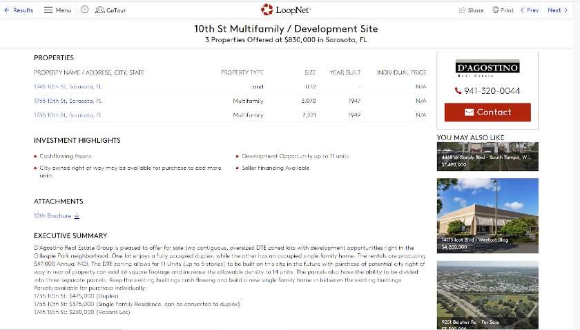 10th St. Multifamily /Development Site