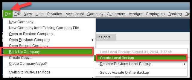 Steps to Save a Backup Company in QuickBooks Desktop