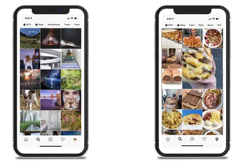 Screenshot of Shopping on Instagram Feed
