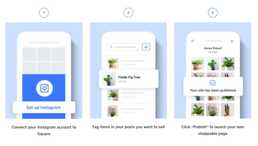 Screenshot of Setting Up Instagram Account to Square