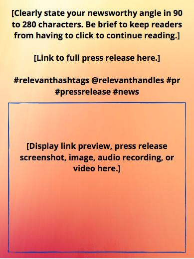 Social Media Press Release Template