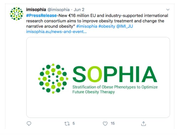 Sophia press-release engagement