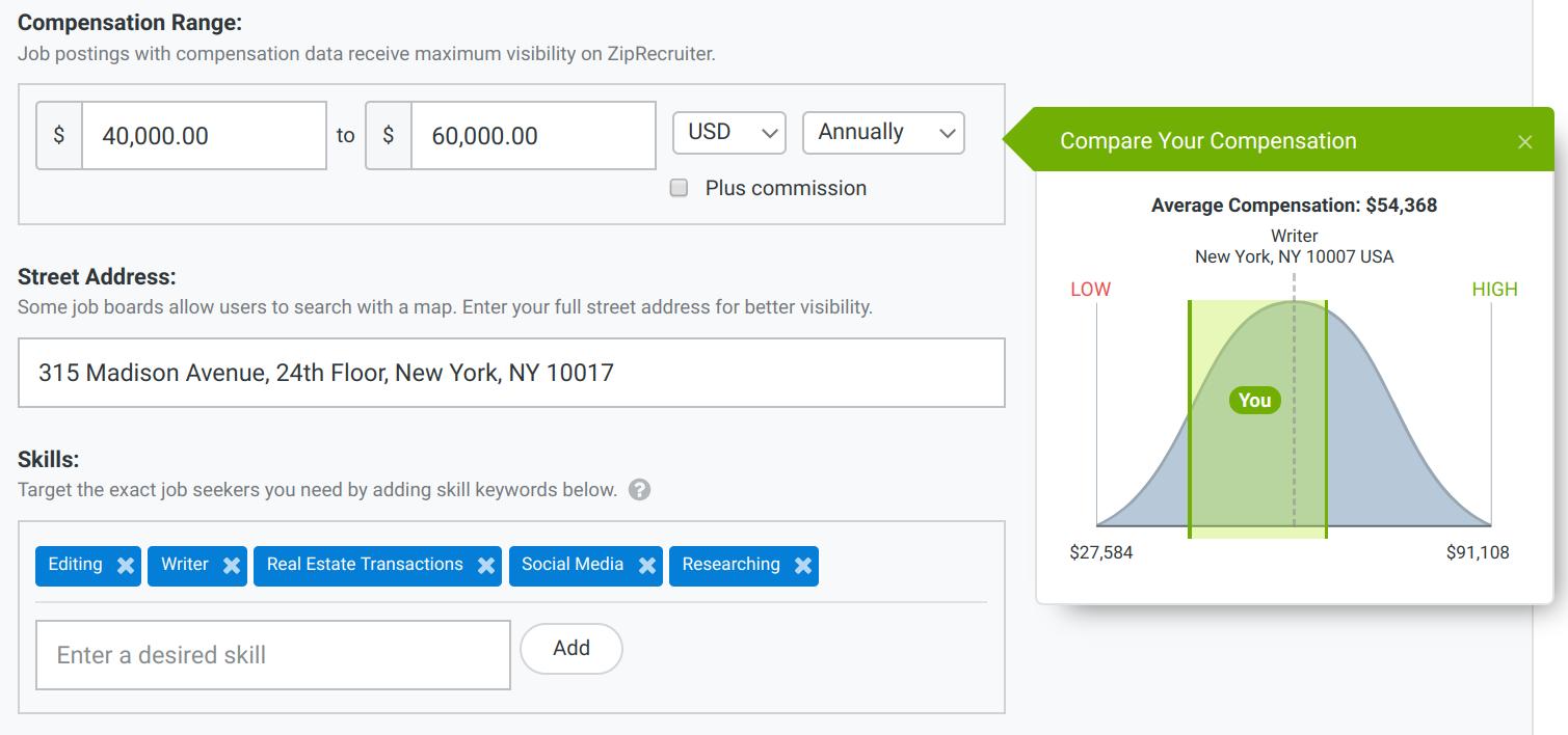 Compensation Range