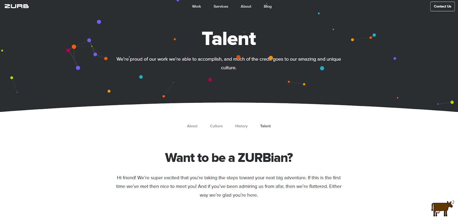 Zurb Talent Page