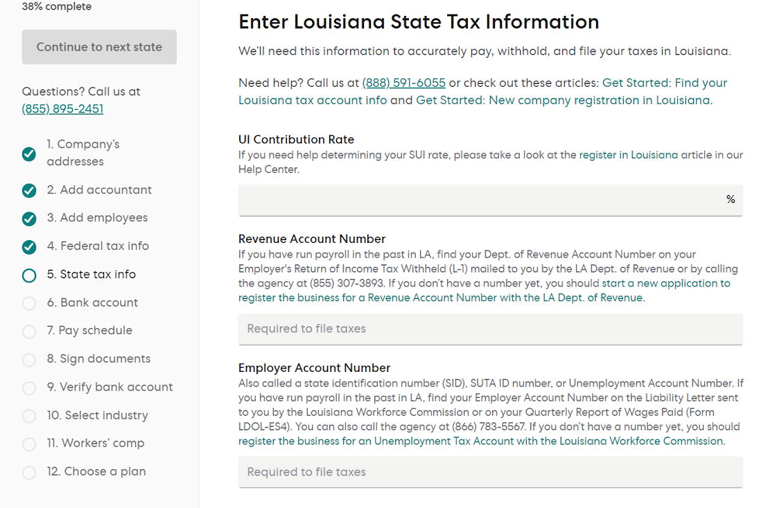Louisiana State Tax Information Page