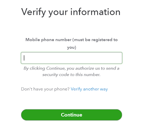 Verify information by Sending Code to Phone number