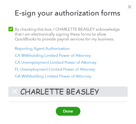 Adding E-Signing all the Authorization Forms