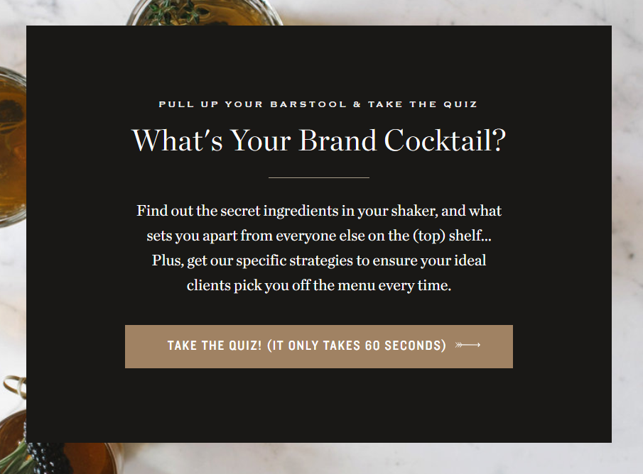 what's your brand cocktail quiz