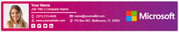 Footer-Style Email Signature Example