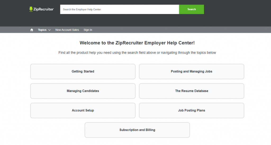 ziprcruiter help center