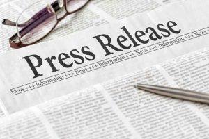 Press Release headline in newspaper