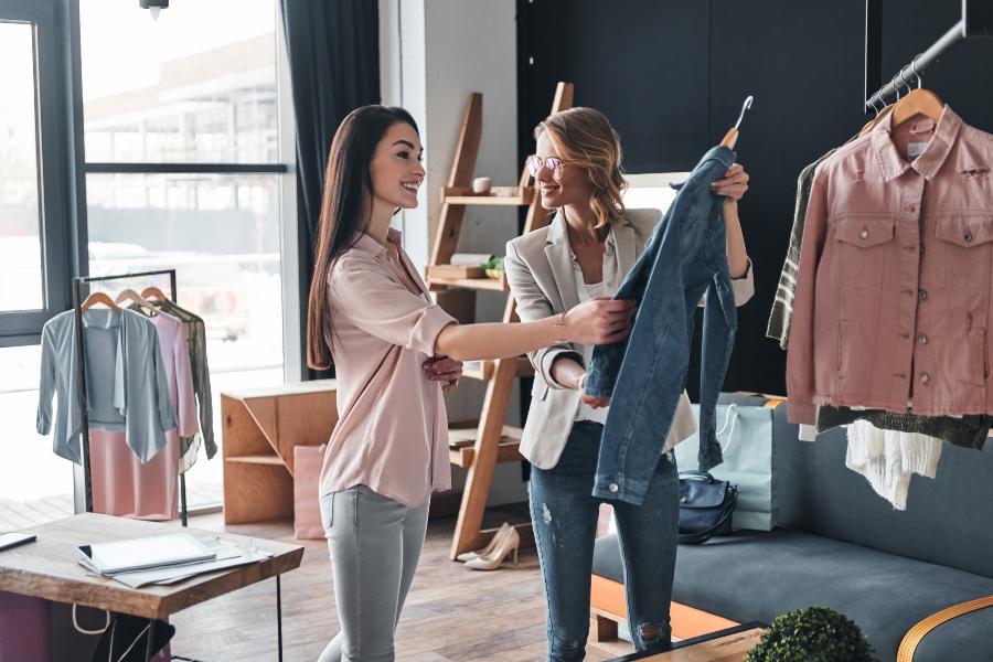 Women Checking Clothing