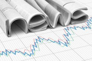 news paper with data graph