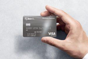 Man Holding Credit Card US Bank Visa