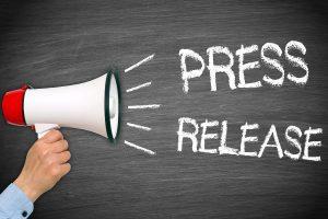 Press release hand megaphone