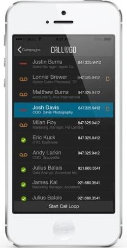 Call On the Go Dialer App
