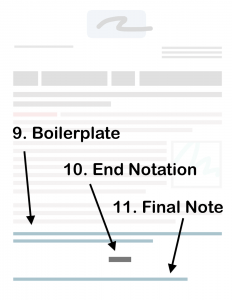 Screenshot of End notation example