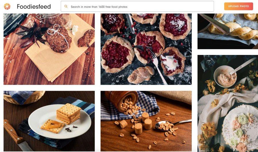 Screenshot of Desserts on Foodiesfeed