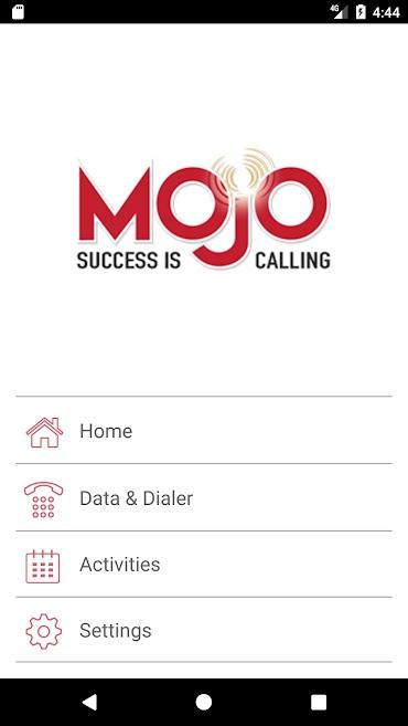 Mojo on the Go Dialer App