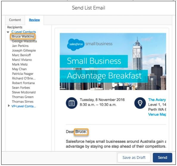 Saleforce Email Marketing Tools
