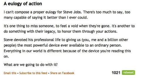 A eulogy of action by Seth Godin