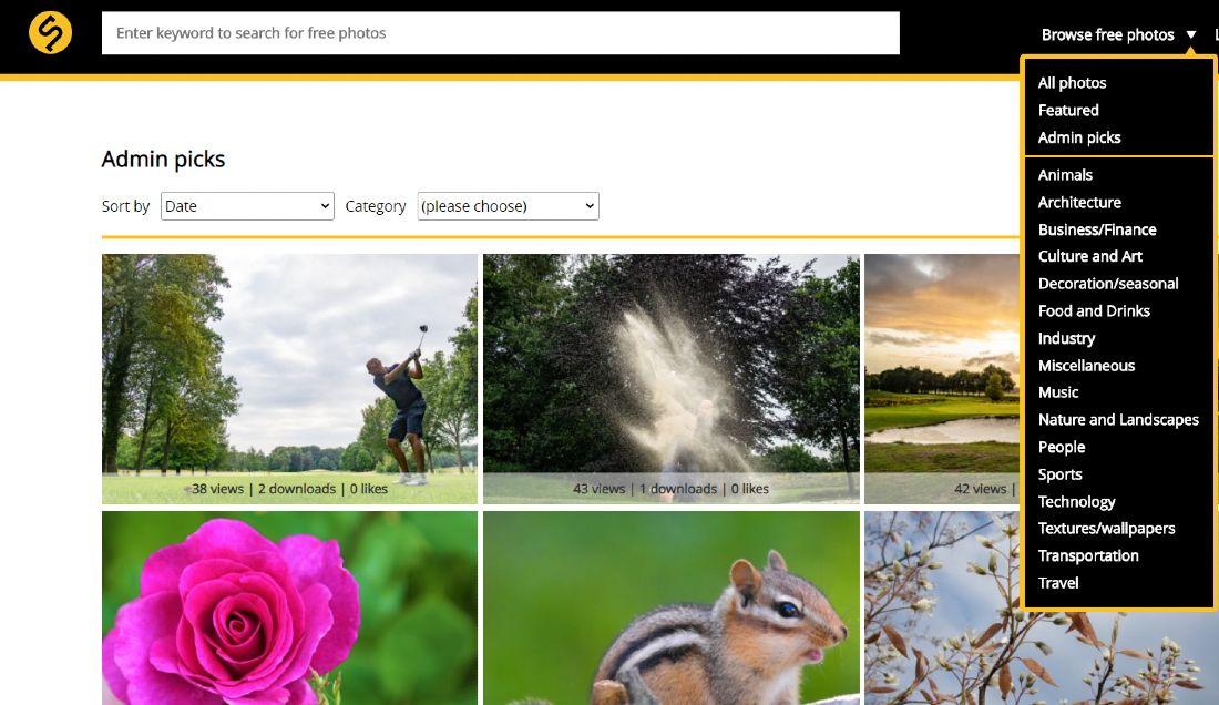 Screenshot of Skitterphoto's Admin Picks