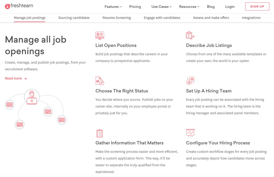 Screenshot of Freshteam Manage Job Postings