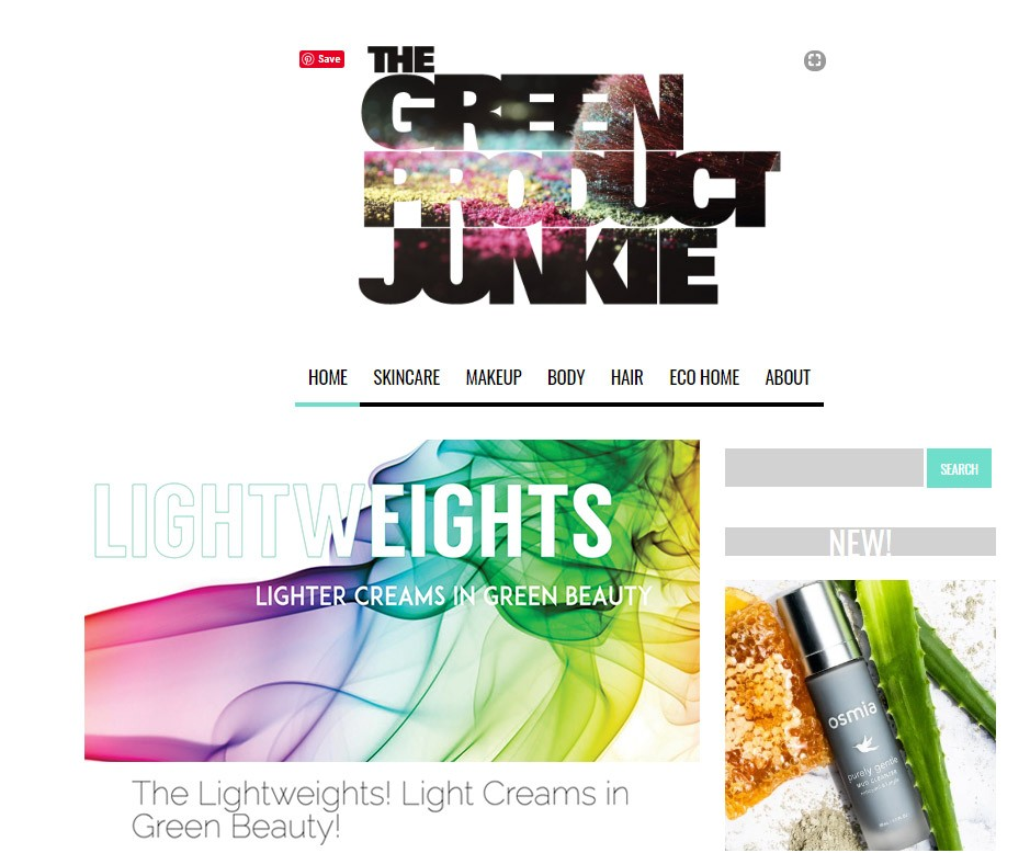 Screenshot of Green Product Junkie Lightweights