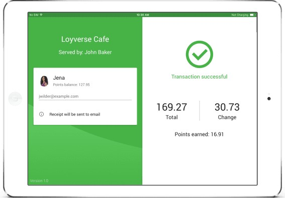 Screenshot of Loyverse Customer Checkout